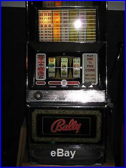 Antique Vintage Bally's Slot Machine' (clean And In Good Shape!)