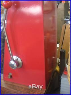 ANTIQUE VINTAGE MILLS OVERLAND GOLD CLUB 5 CENT SLOT MACHINE 60s RARE 4 WHEELS