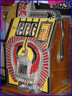 ANTIQUE VINTAGE MILLS WAR EAGLE SLOT MACHINE' (ORIGINAL 1930s) (NICE SHAPE!)