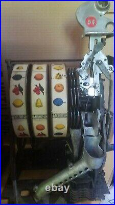 ANTIQUE WATLING BLUE SEAL 5 CENT COIN OP SLOT MACHINE With JACKPOT BEAUTIFUL