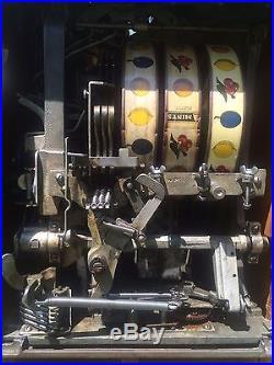 Antique Watling Rol A Top Coin Front 5 C/cent Twin Jack Pot Working Slot Machine