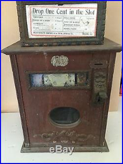 ANTIQUE one cent SLOT MACHINE complete MILLS NOVELTY CO. Chicago, Ill 1906