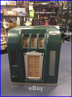 Adorable Green 1940'S VINTAGE 1 CENT penny SLOT MACHINE Zephyr Trade Stimulus