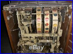 Ant vtg Art Deco 10 Cent OD JENNINGS Chief Slot Machine Mid Century Modern &KEYS