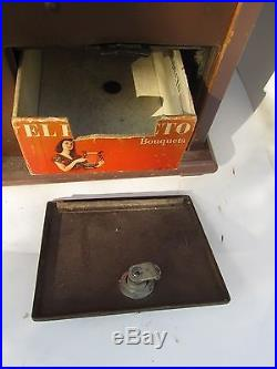 Antique 1900s Mills Novelty 1C One Cent Penny Coin Slot Machine. Heart, Libertry