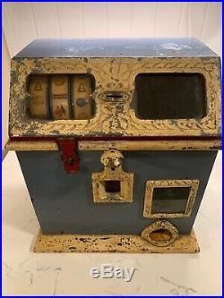 Antique 1910's Sheffler Bros 5c Trade Stimulator Bell Fruit Gum WORKS Needs Work