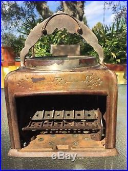 Antique 1914 Fey on the level roulette trade stimulator cast iron Vintage