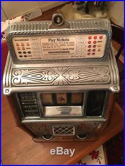 Antique 1928 Callie Superior Bell Jackpot Slot Machine