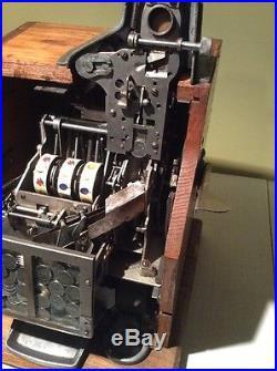 Antique 1930's Mills Q. T. 5 Cent Slot Machine Mills Novelty Co Original Machine