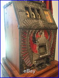 Antique 1930's Mills War Eagle 10cent Slot Machine Jackpot Payout Original