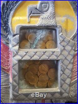 Antique 1930's Mills War Eagle 5 ct Nickel Slot Machine Jackpot Payout Original