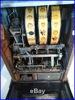 Antique 1930's Mills War Eagle 5c Nickel Slot Machine Mills Novelty READ