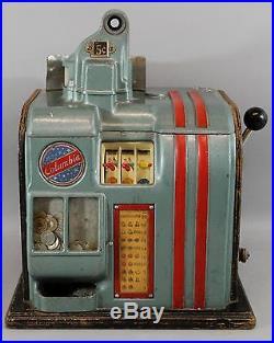 Antique 1930s Groetchen, Columbia, 5-Cent, Payout Slot Machine, No Reserve