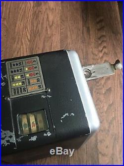 Antique 1930s Mills Vest Pocket Nickel Slot Machine Old Arcade Game Casino Works