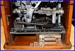 Antique 1935 Watling Blue Seal Confections 5 Cent Slot Machine