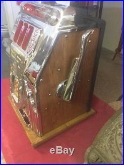 Antique 1940's BUCKLEY 25 Cent Slot Machine CrissCross Chicago USA Works