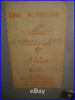 Antique 1940's Buckley 10 Cent Criss Cross Slot Machine Mint Condition Wow