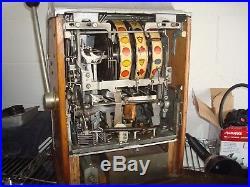 Antique 1940s Jennings Standard Chief. 25 cent Slot Machine -Rare