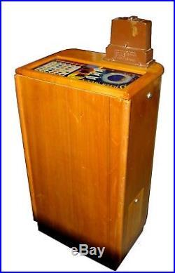 Antique 1941 O. D. Jennings 5 Cent Silver Moon Console Slot Machine