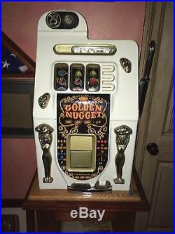 Antique 1948 Golden Nugget quarter slot machine white