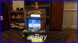 Antique 1986 Igt Players Edge 25 Cent Draw Poker Working Slot Machine