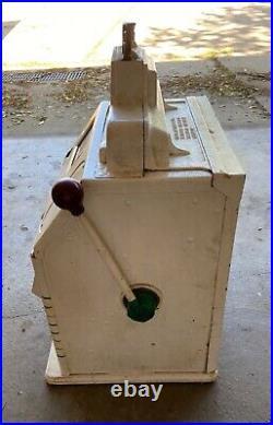Antique 5 Cent Mechanical Slot Machine