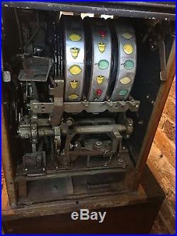 Antique 5 Cent Slot Machine