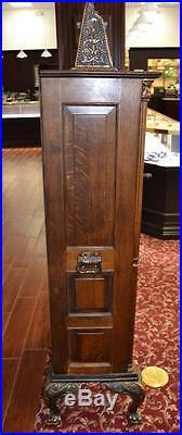 Antique Admiral Dewey 5c Nickel Upright Floor Model Slot Machine by Mills