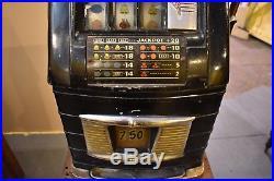 Antique Art Deco Mills 5 cent Nickel Slot Machine 1940's Gambling Casino