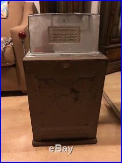 Antique Authentic Jennings Governor Dime Slot Machine, Oak Base