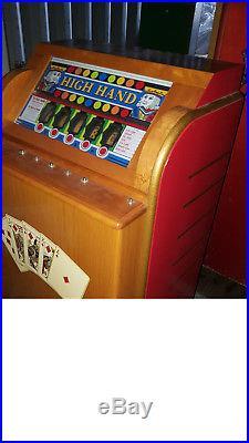 Antique Bally High Hand Slot Machine Coin Op Arcade Mills Jennings Pace
