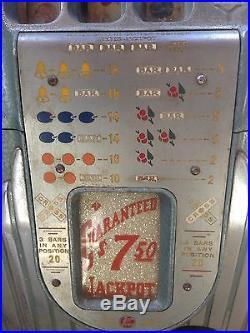 Antique Buckley 5 Cent One Armed Bandit Slot Machine