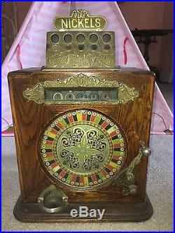 Antique Caille's Ben Hur Nickel Slot Machine