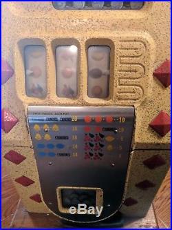Antique Cast Iron Nickel Slot Machine Mills Novelty Co. Works