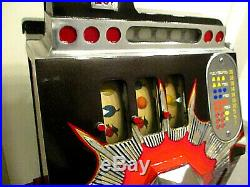 Antique Coin Slot Machine Mills Bursting Cherry 25 Cent
