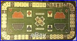 Antique DIANA card game layout board authentic Old West artifact 29 X 54