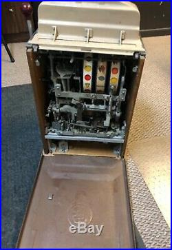 Antique Jennings 10 Cent Indian Chief Slot Machine Working Great With Manual