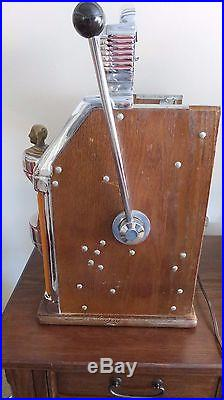Antique Jennings 25 cent Sun Chief Light up Slot Machine $2,775.00