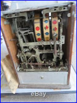 Antique Jennings 4 Star Chief 5 Cent Slot Machine Deer Hunting Scene no reserve
