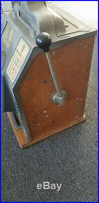 Antique Jennings 5 Cent 4 Star Indian Chief Slot Machine