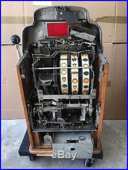 Antique Jennings 50 Cent Indian Chief Slot Machine Nice Rare