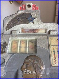 Antique Jennings Chief Indian Native American 10 Cent Slot Machine