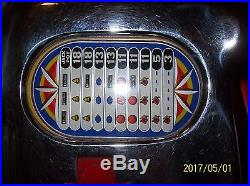 Antique Jennings Club Chief 5 cent Slot Machine withstand Works Late 1930's-1940's