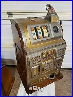 Antique Jennings Gold Award Slot Machine Vintage Penny One Cent Free Shipping