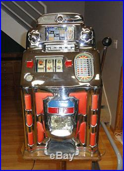 Antique Jennings Lighted Chinese Front 10 Cent Slot Machine