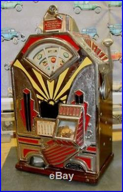 Antique Jennings Little Duke One Cent Penny Slot Machine Circa 1932