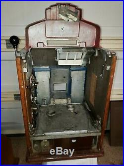 Antique Jennings Sky Chief Jackpot Slot Machine Vintage Nickle Free Shipping