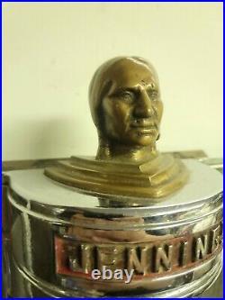 Antique Jennings Slot Machine Rare Indian Head Front Casting