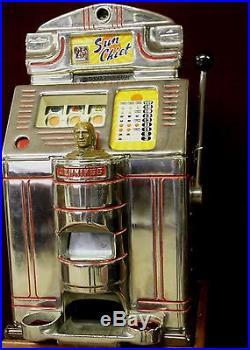 Antique Jennings Sun Chief 25 cent Slot Machine