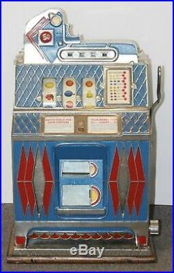 Antique MILLS 5c Cent FORTUNE TELLER MINT VENDOR 3 Reel SLOT MACHINE -WORKS